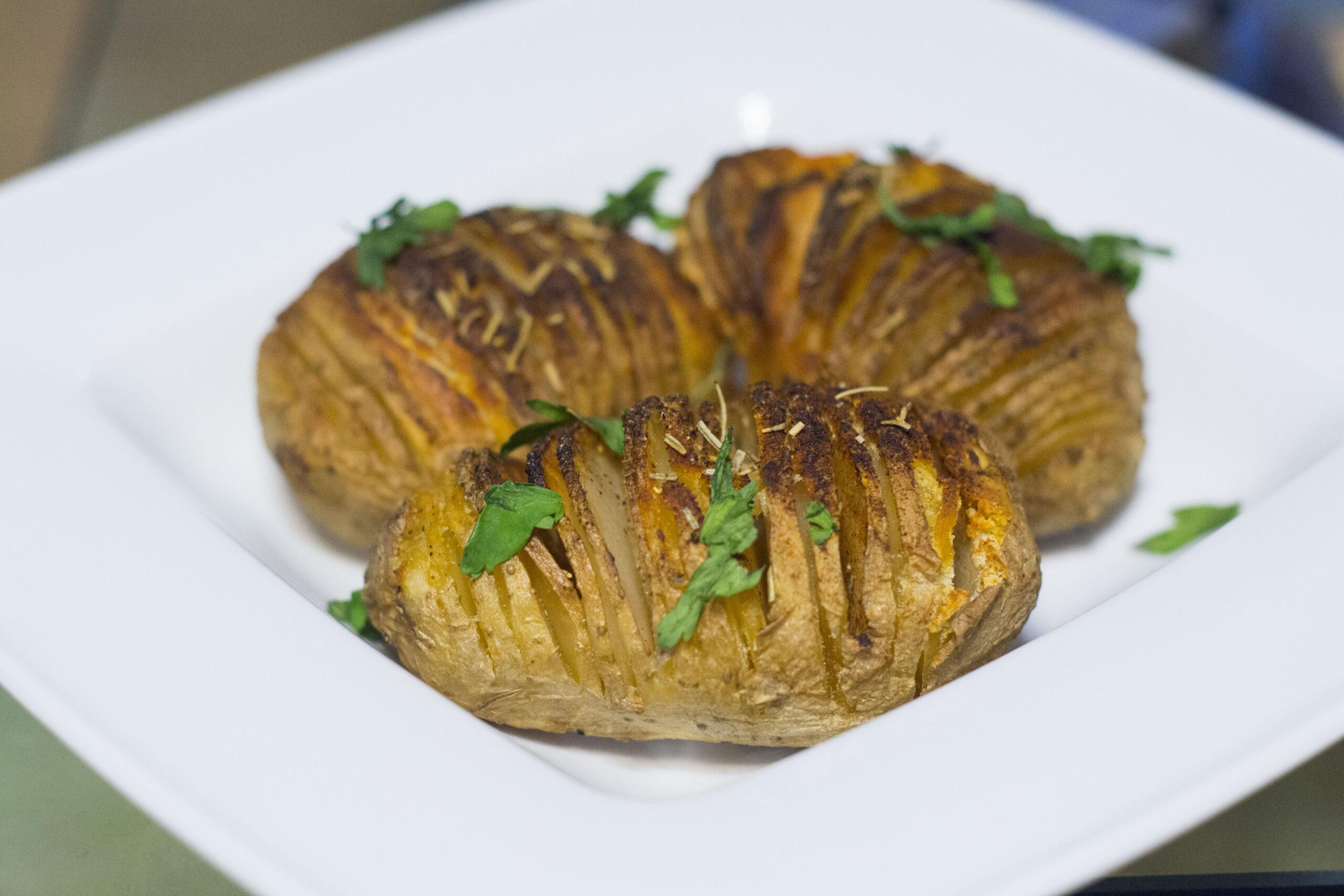 kiszone ziemniaki hasselback